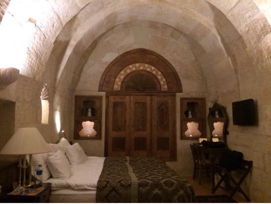 洞窟ホテル、閑散期だったためホテル貸し切り状態でした!笑