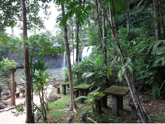パロネラパークの滝