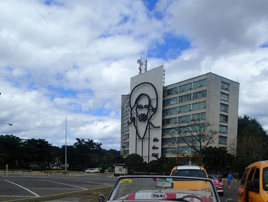 革命広場 with クラシックカー