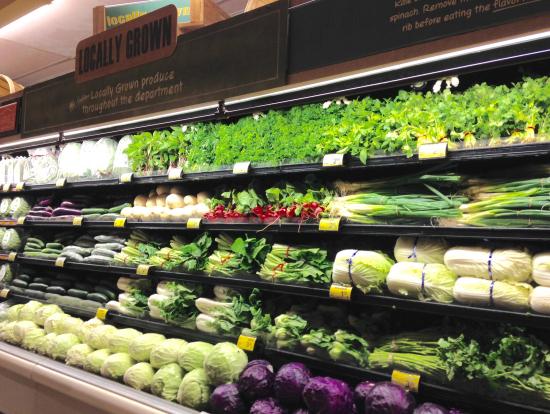 野菜の陳列も日本とは違います