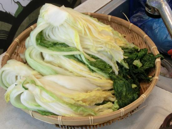 この白菜と材料を混ぜ合わせます