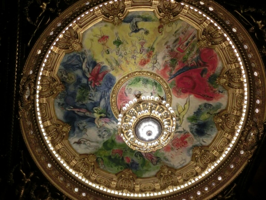 有名なシャガールの天井画