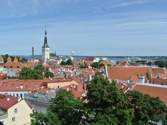 旧市街を展望