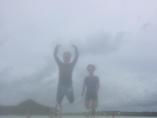 海の上でジャンプ!!