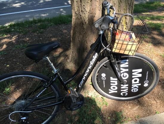 この自転車でいざセントラルパークへ
