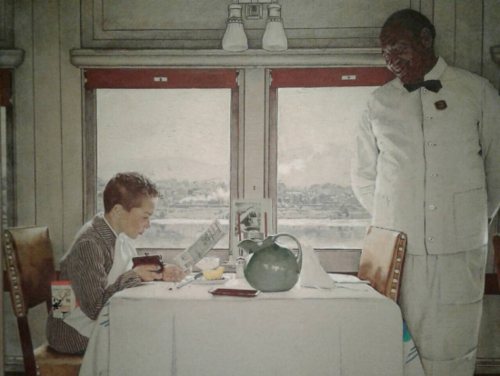 ノーマン・ロックウェルの作品はユーモアのあるものが多く、中には風刺的な物もあり楽しいです