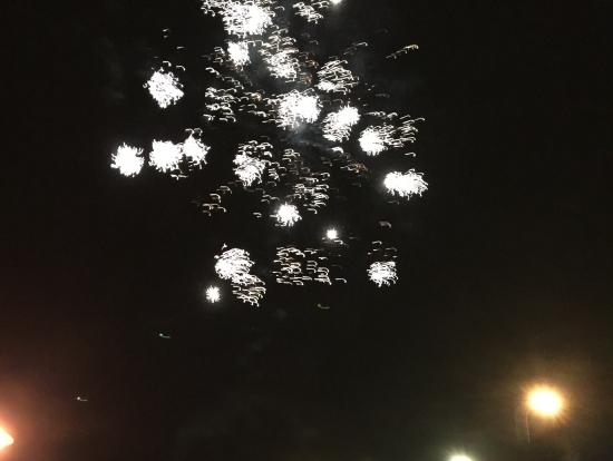 帰る間際、花火が上がったよ!!