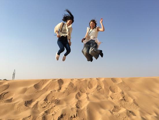 砂漠でジャンプです