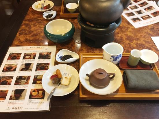 お席を移動してお茶とお茶菓子をゆっくりいただきます!