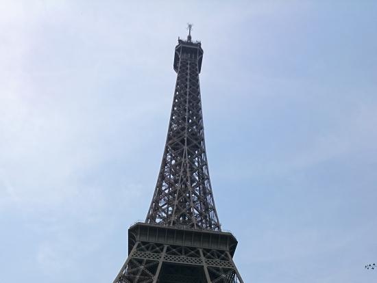 エッフェル塔の真下まで連れてってくれます。
