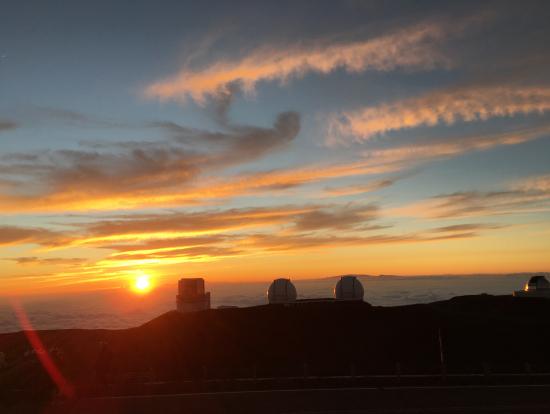 マウナケアの夕日きれいでした