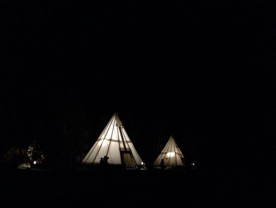 オーロラビレッジのテント