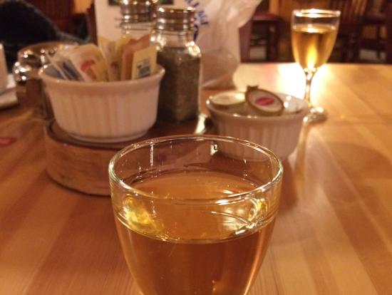 ビレッジ内のレストランにてアイスワイン