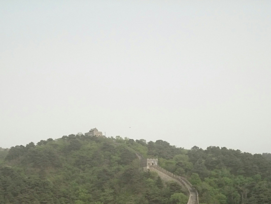 PM2.5ではないみたいですが、霞がかっていました