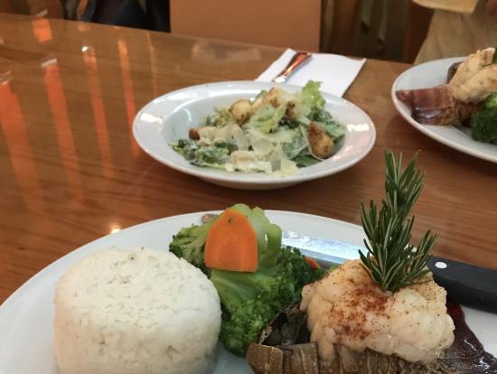 サラダにステーキ(^_-)