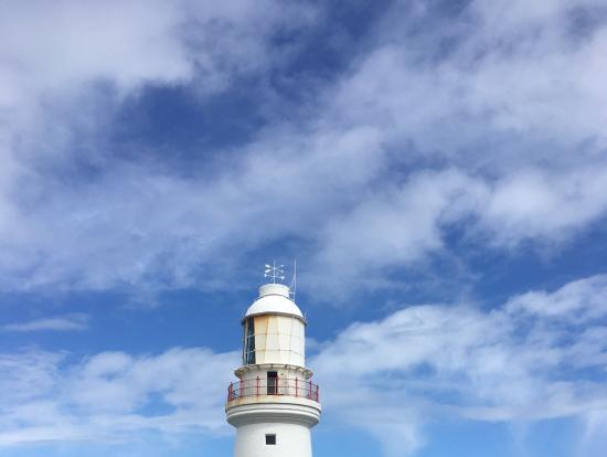 灯台。とにかく風が強かった…