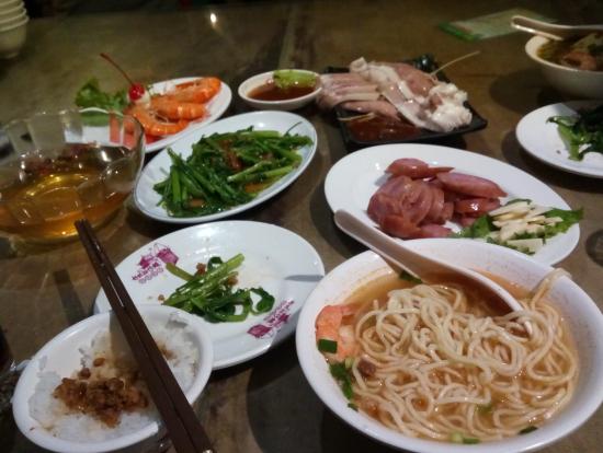 ディナーの台湾料理