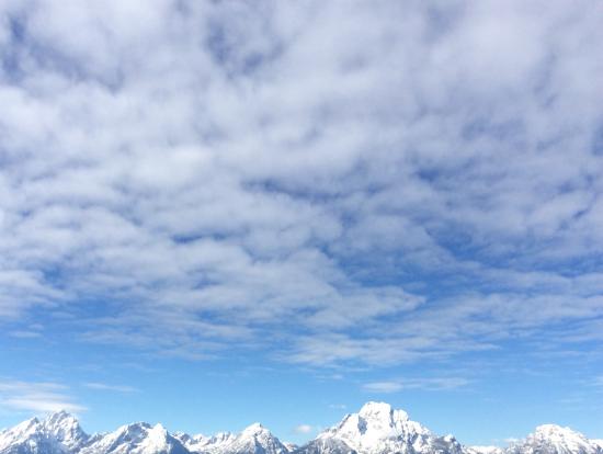 雪景色のグランドテイトン国立公園