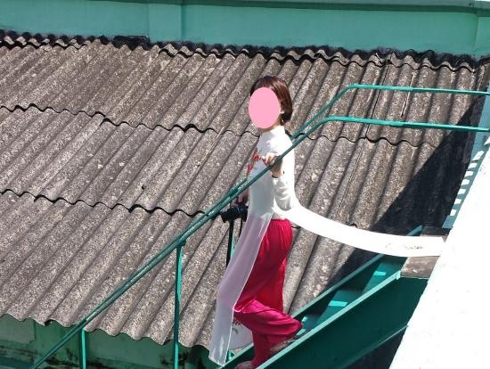 ヒンズー教教会の屋上への階段