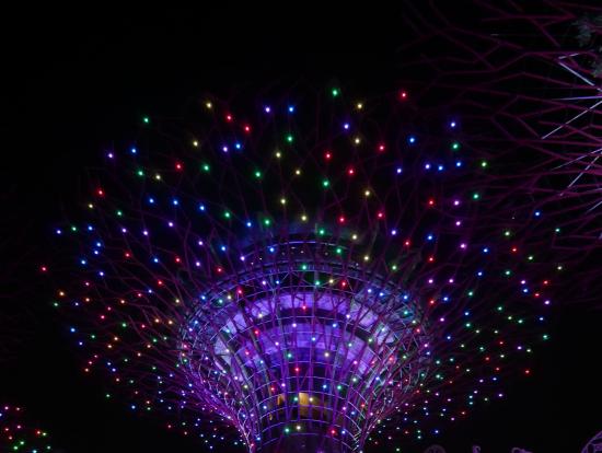 ガーデンバイザベーの光のショー