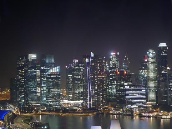 シンガポールフライヤーから見た景色