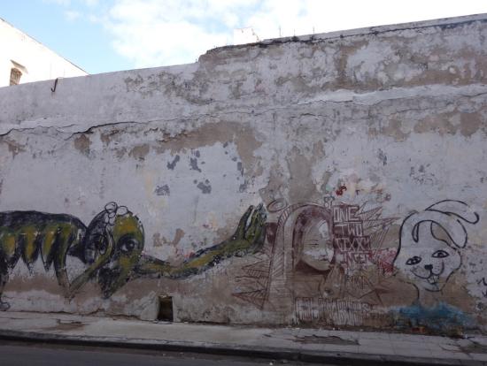 ドライブ中たくさんの印象的なストリートアートを目にしました