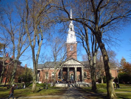 ハーバード大学の卒業式が行われるホール