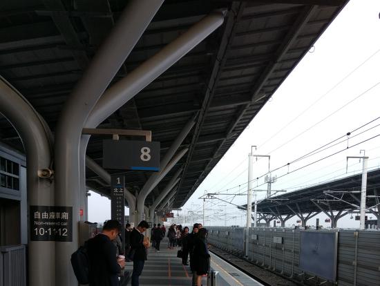 高鐵台南駅上りホームにて