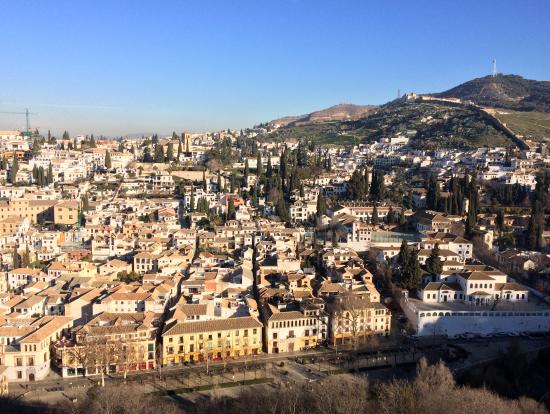 アルハンブラから見えた市街
