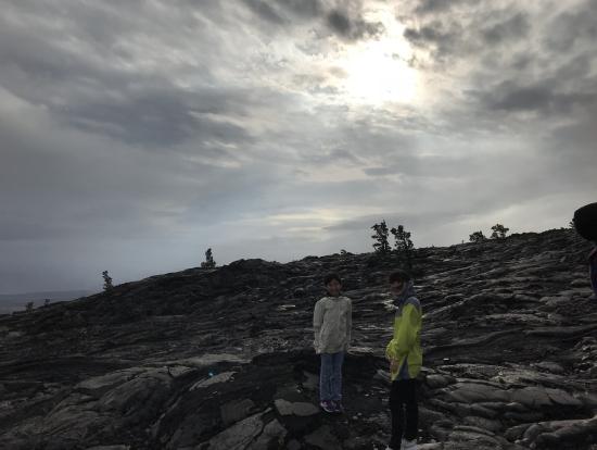 感動の溶岩ウォーク