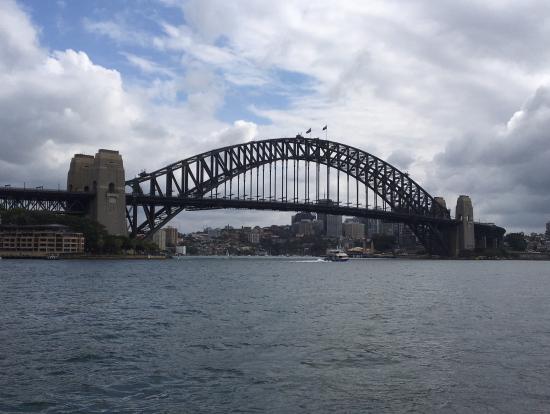 この橋の上を登ります!