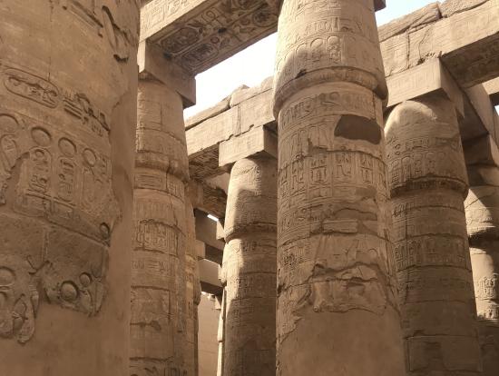 カルナック神殿の柱
