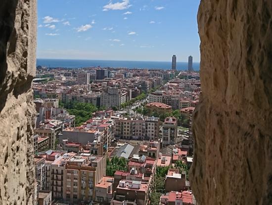 サグラダファミリアの鐘楼からの眺め