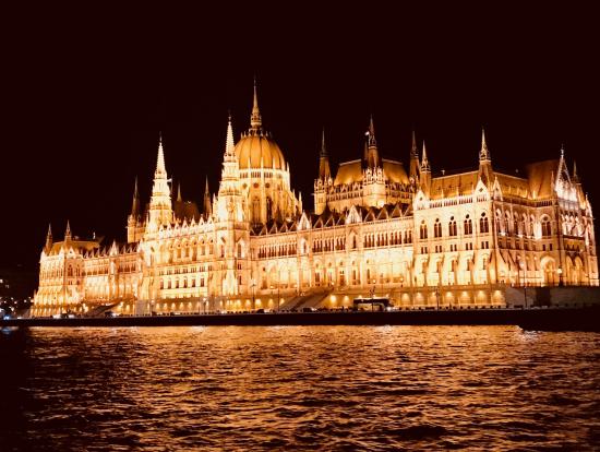 クルーズ船から撮影した国会議事堂