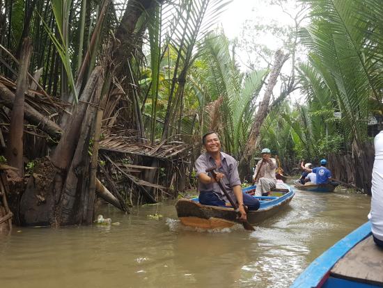 小舟で川下り