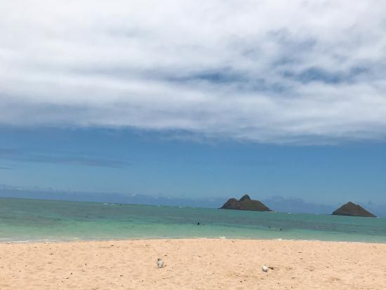 ラニカイビーチは静かで落ち着きました