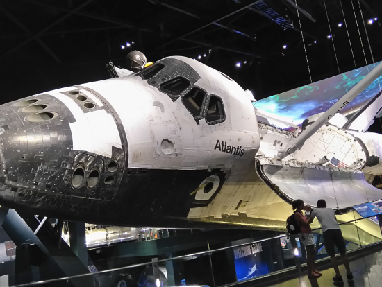 スペースシャトルAtlantis。実物!