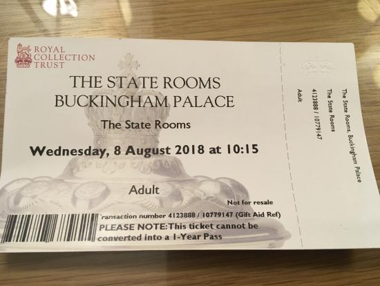 間違えて渡されたチケットです。
