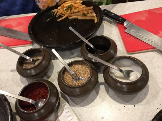 キムチ作りに使う調味料料理