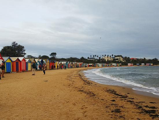 カラフルなビーチ小屋