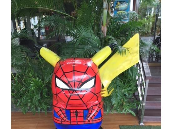 スパイダーマン風ピカチュー