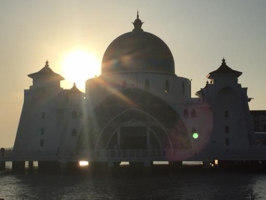 夕日のモスク1