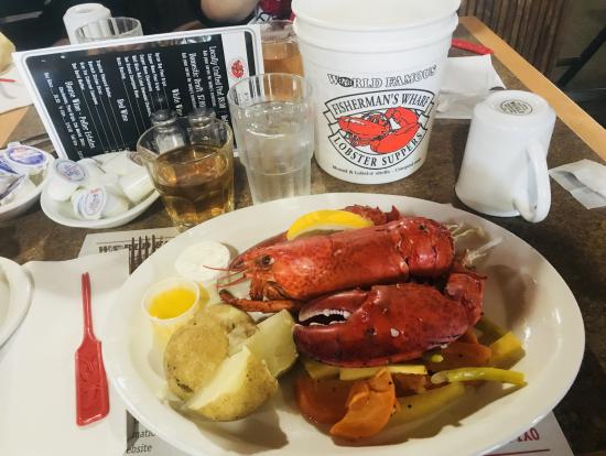 昼食のロブスター Fosherman's Wharfにて