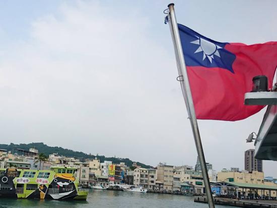 高雄観光では、旗津 Cijin の海鮮料理 を食べにフェリーに乗船