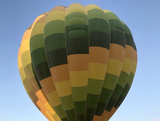 気球の大きさは圧巻!