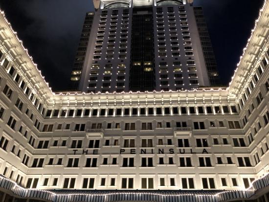 ペニンシュラホテルの夜景