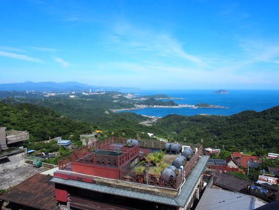 阿妹茶楼からの眺め。晴れた日、静かに冷茶を頂きながら・・・。