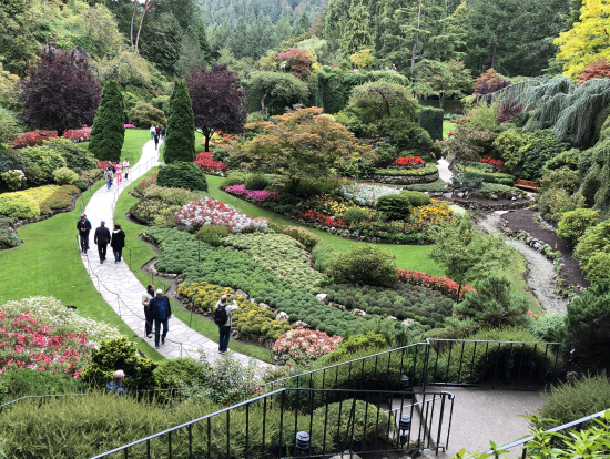 ブッチャートガーデン素晴らしいお庭です