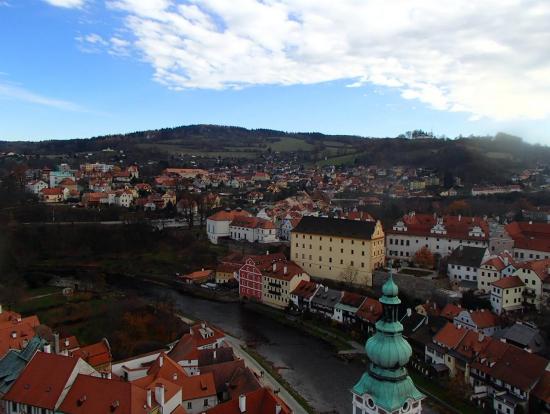 お城の塔からの眺め