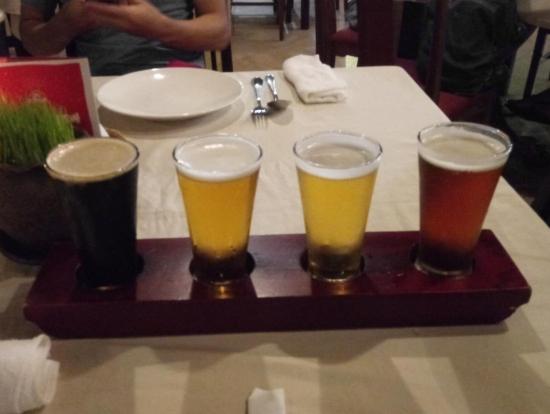テイスティングビールが美味しかった